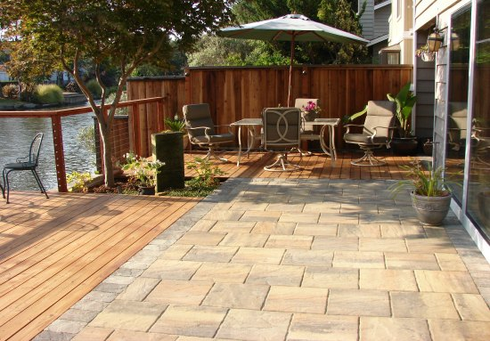 Back Patio and Redwood Deck