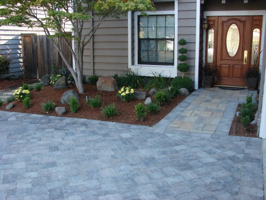 Driveway and Front Entry Remodeled