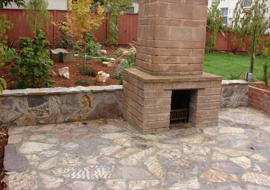 After- Outdoor Fireplace