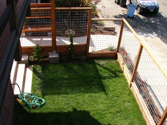 New Lawn and Hog Wire Panel Fence