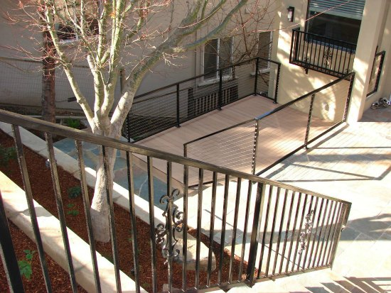 Iron Handrail and Trex Decking