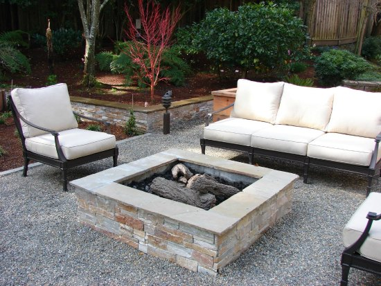 Gravel Patio. Because Of The Wide Range Of Possibilities, A Variety Of  Materials May Be Used. For Instance, Brick Designs Can Include A  Basketweave, ...