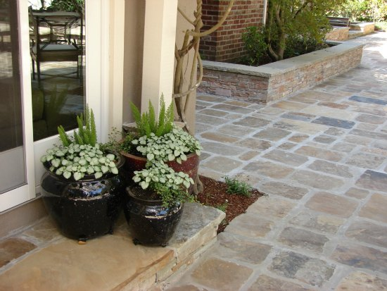 Pots and Stone Patio
