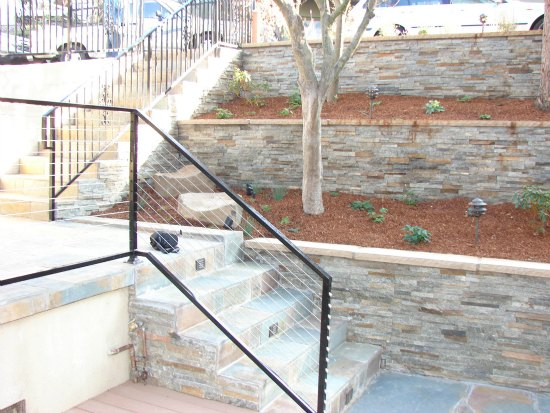 Ledge Stone Panels over CMU Retaining Walls