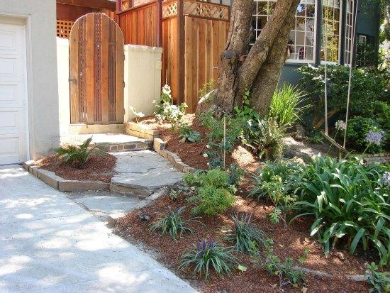 Side Yard Garden Planting and Garden Gate