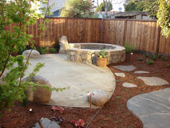 Stone Garden Bench and Meditation Space