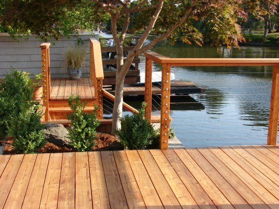 Feeney Wire and Redwood Deck on Lagoon