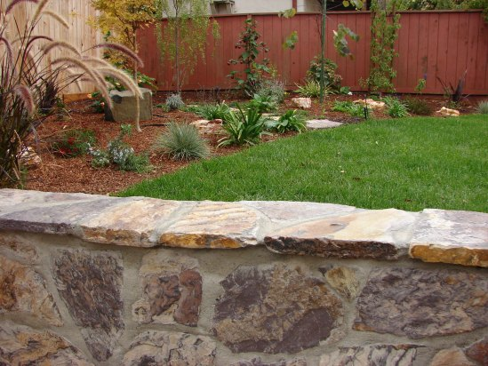 After- Lawn and Seat Wall
