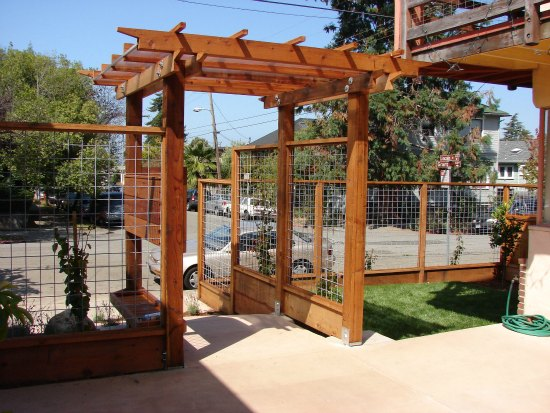 Apartment View of Custom Trellis
