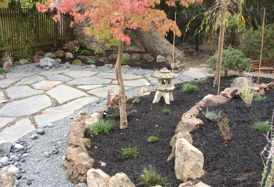 Backyard Japanese Garden with Pagoda