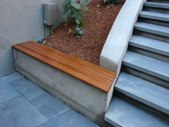 Ipe Wood Seat Wall
