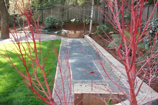 Landscaped Backyard with Horseshoe Pit