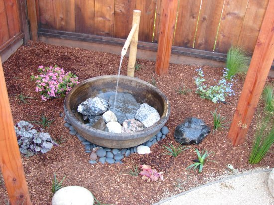 Zen Garden Water Feature and Stone Basin